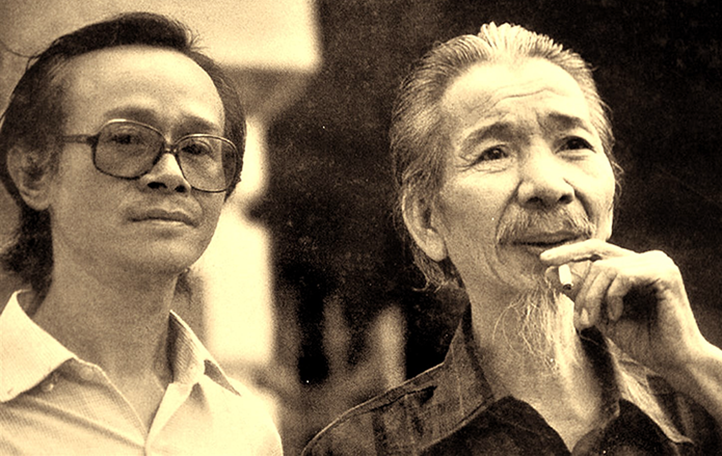 Trinh Cong Son and Van Cao (source: petrotimes.vn)